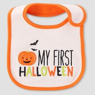just one you carters my first halloween bib teething cloth pumpkin bat