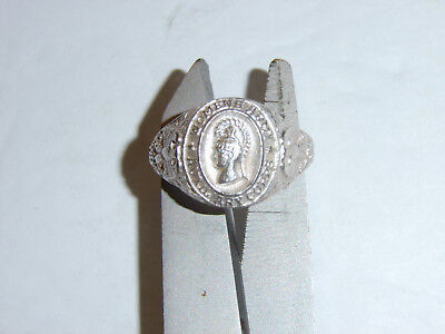 0368-7.5 WW 2 US Army WAC WAAC Silver Ring size 7 1/2 R22D