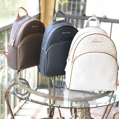 NWT Michael Kors Abbey Large PVC or Leather Backpack Various Colors