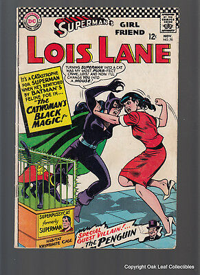 Superman's Girl Friend Lois Lane 70 DC Comic Book 1966 1st SA Catwoman