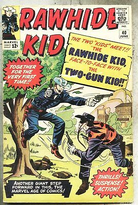Rawhide Kid #40-1964 vg Dick Ayers Rawhide Vs Two-Gun Kid Jack Kirby