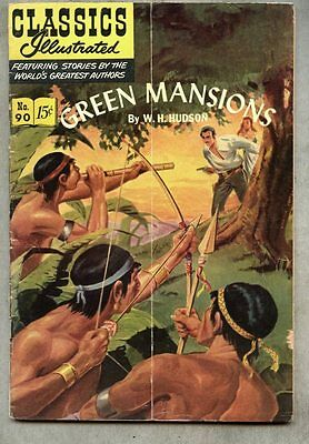 Classics Illustrated #90-1951 vg+ 1st edition Hudson Green Mansions