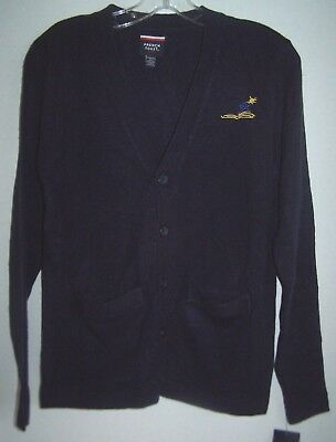 KIDS Navy Blue V-Neck Cardigan Sweater French Toast School Uniform Size XL 14/16