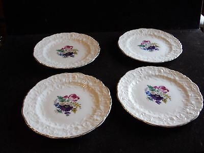 """4 Vintage 6 1/4"""" D Bread & Butter Plates Rose Point STB233 by Steubenville"""