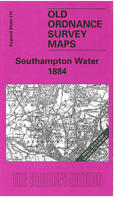 Old Ordnance Survey Map Southampton Water 1884 Botley Hamble Netley Romsey