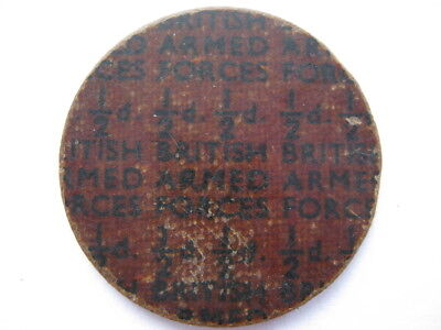 NAAFI Britih Armed Forces currency Halfpenny 25mm plastic