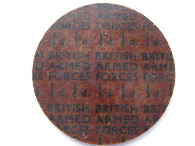 NAAFI Britih Armed Forces currency Penny 29mm plastic