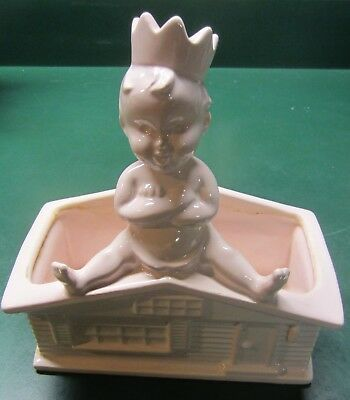 Vintage haeger planter - baby king of the house planter