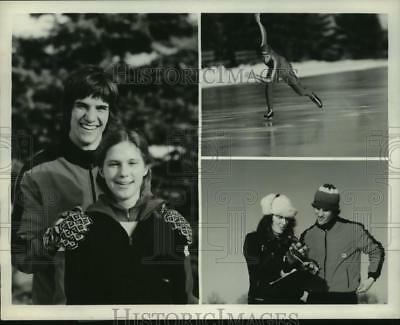1980 Press Photo Eric & Beth Heiden Speed Skaters At The Winter Olympics on ABC