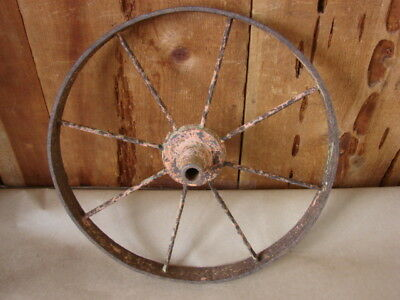 "Vintage, Antique, Metal 7 Spoke 15"" Wheelbarrow WHEEL"