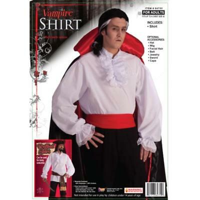 Forum Novelties 9299 Mens Vampire White Halloween Top/Shirt Costume O/S BHFO