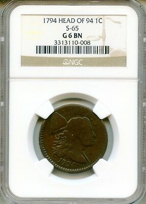 1794 Large Cent NGC Good 6 Brown Head of 1794 S-65 ~ G6BN 1c (3313110-008)