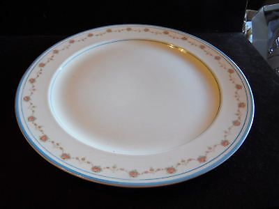 """Vintage Pink Rose & Floral Swag With Blue Band Steubenville 14"""" Charger"""
