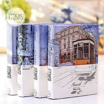 Mini Hard Cover Notebook Diary Travel Journal Schedule Ruler Grid Planner #B74