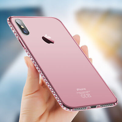 For iPhone XS X 8 7 6s Plus Luxury Ultra-thin Diamond Soft Silicone Case Cover