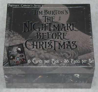 Neca 2001 The Nightmare Before Christmas Movie Trading Card 36 Pack Box New