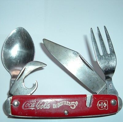 Old Coca Cola Vintage Pocketkinfe Coke Kife Colonial Tool Knife Bottle Opener
