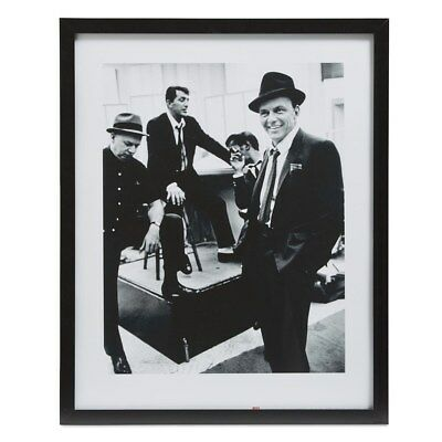 Frank Sinatra Rat Pack Framed Black & White Photo Print 44 x 54cm N1CM#