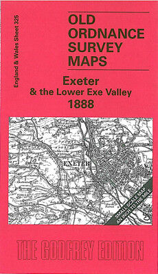 Old Ordnance Survey Map Exeter The Lower Exe Valley 1888 Sowton Yeoford Whimple