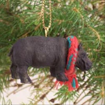 Hippopotamus with Scarf Tiny One Miniature Small Christmas ORNAMENT