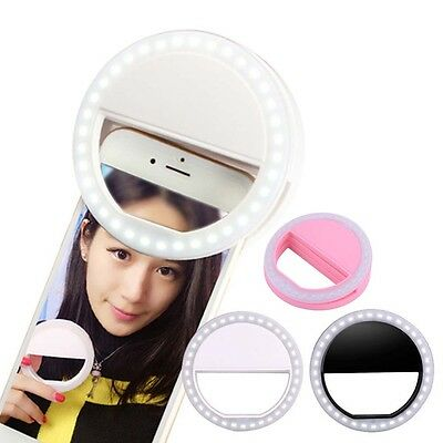 mirror Selfie Portable Flash Led Camera Photography Ring Light for Smartphone #M
