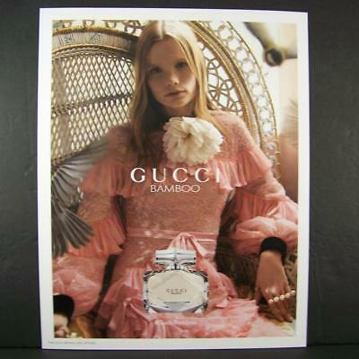 Gucci Bamboo Perfume Polina Oganicheva Advertising Poster 14x11 Thick Photo Sign