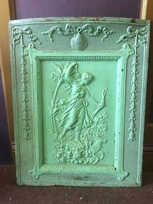 Antique Cast Iron Stove Or Fire Screen  Or Cover