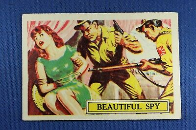 1965 A&BC (England) Battle Cards - #53 Beautiful Spy - VG Condition