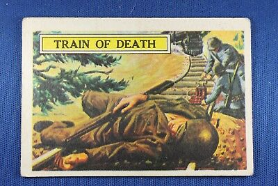 1965 A&BC (England) Battle Cards - #27 Train of Death - VG Condition