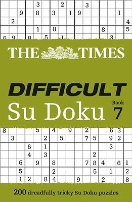 The Times Difficult Su Doku Book 7 (Paperback), The Times Mind Ga. 9780007516919