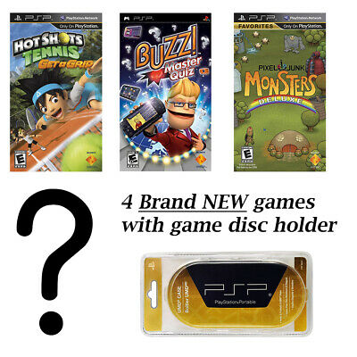 PSP MEGA 5 Game Bundle with Free UMD Case Holder - Game 5 Surprise Mystery! NEW!