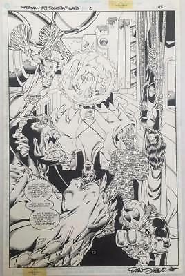 Superman: The Doomsday Wars #2 DC 1998 (Original Art) Splash Page 43 Dan Jurgens