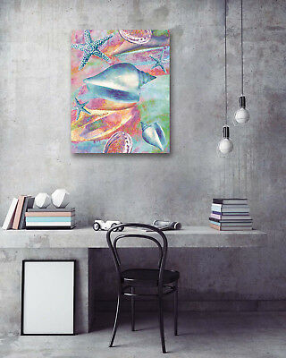 Colored Shell Starfish Modern Art Poster Print Wall Room Decor Canvas Painting