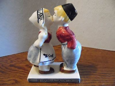 Vintage Holland Figurines Kissing Dutch Boy and Girl