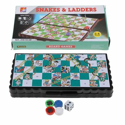 Ludo and Snakes & Ladders Game Traditional Family Travel Kid FUN Chess Game Gift