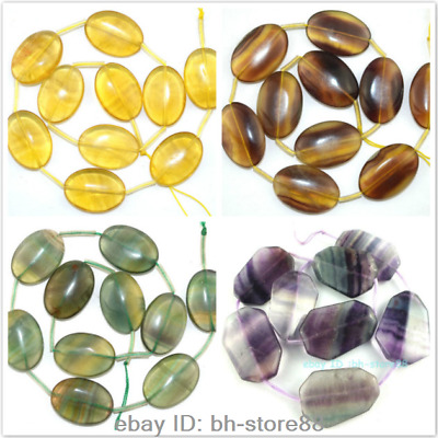 Oval Sphere Rectangle Natural Multi-colour Yellow Green Fluorite 18x25MM 20x30MM