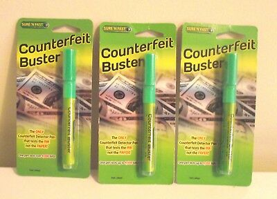 Sure N Fast Counterfeit Buster Counterfeit Detection Marker Pen 7ml 3 AVAILABLE