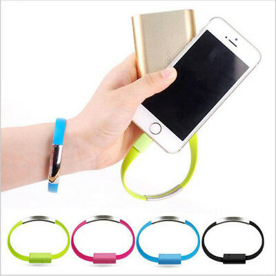 US Bracelet Flat Wire USB Charger Cable Charging Data Cord For iPhone X 8 7 6