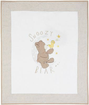 NEW Tesco Jack the Bear Cot Bed W100xL120cm Quilt - Brown