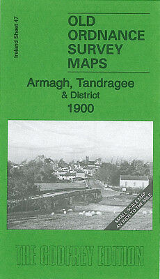 Old Ordnance Survey Map Armagh Tandragee 1900 Portadown Moy Richill Gilford