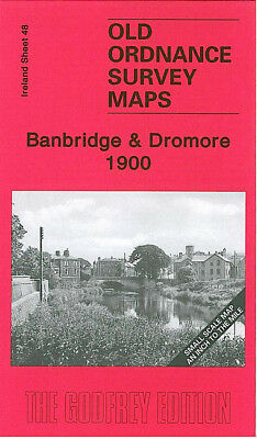 Old Ordnance Survey Map Banbridge Dromore Katesbridge Lawrencetown Massford 1900
