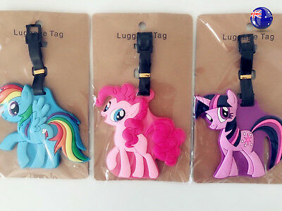 Kid silicone Children Girl My Little Pony Travel School Luggage Name Tag badge