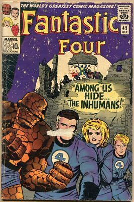 Fantastic Four #45 - G+ - 1st Appearance Of The Inhumans