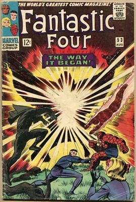 Fantastic Four #53 - VG - 2nd Appearance Of The Black Panther