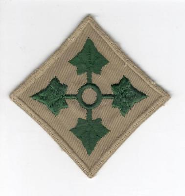 VHTF WW 2 US Army 4th Infantry Division Twill Patch Inv# V653