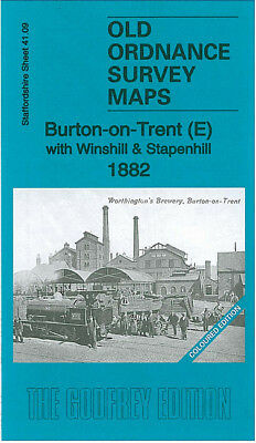 Old Ordnance Survey Map Burton On Trent East Winshill Stapenhill 1882 Wetmoor