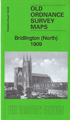 Old Ordnance Survey Map Bridlington North 1909 Old Town Priory Church