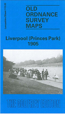Old Ordnance Survey Map Liverpool Princes Park 1905 Toxteth Sefton Park