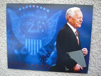 Bob Schieffer Signed Photo 8X10 #1 Cbs Face The Nation Proof