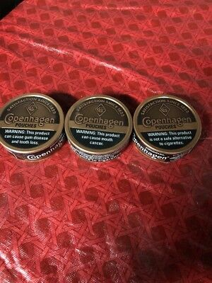 Lot Of 3 Copenhagen tobacco pouches can/holder containers